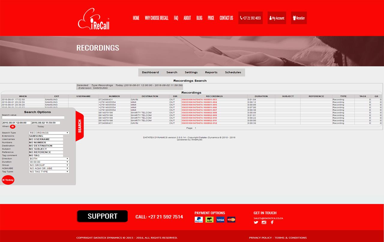 iReCall Recordings