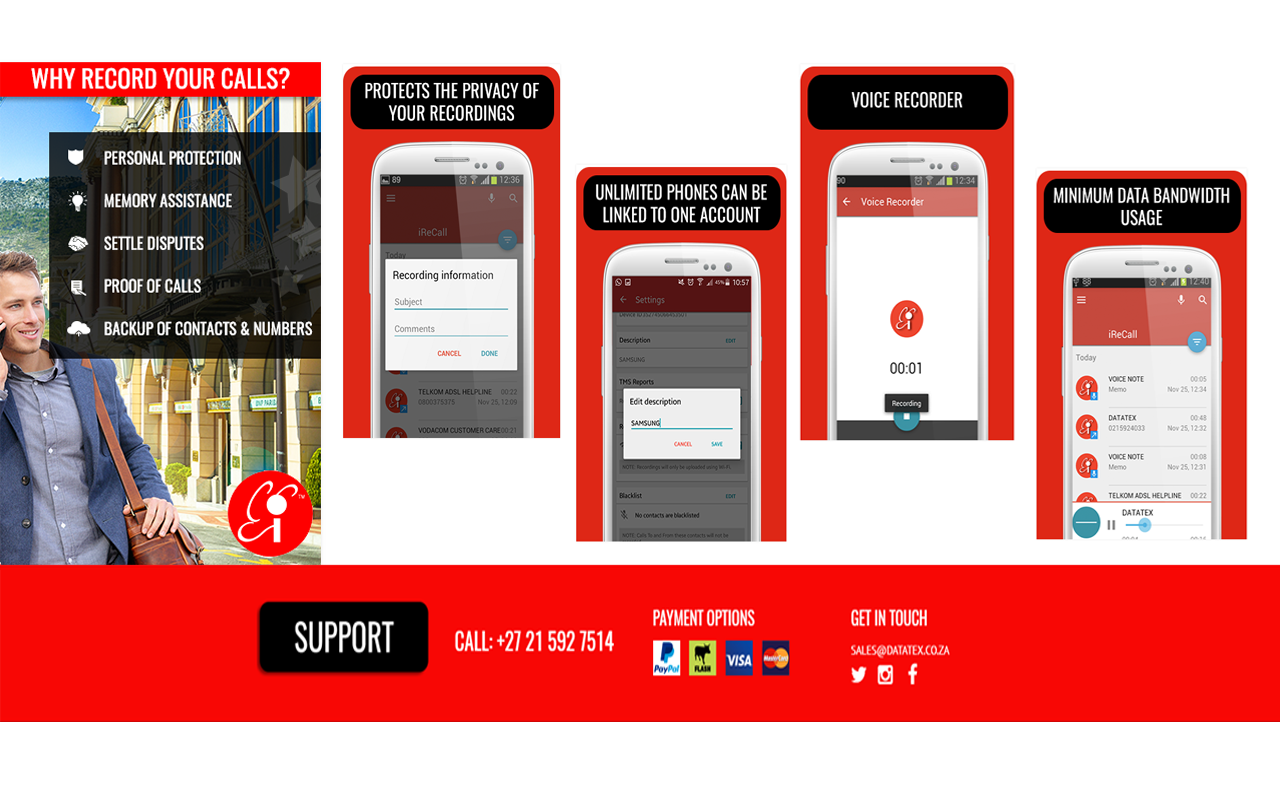 iReCall Mobile Layout